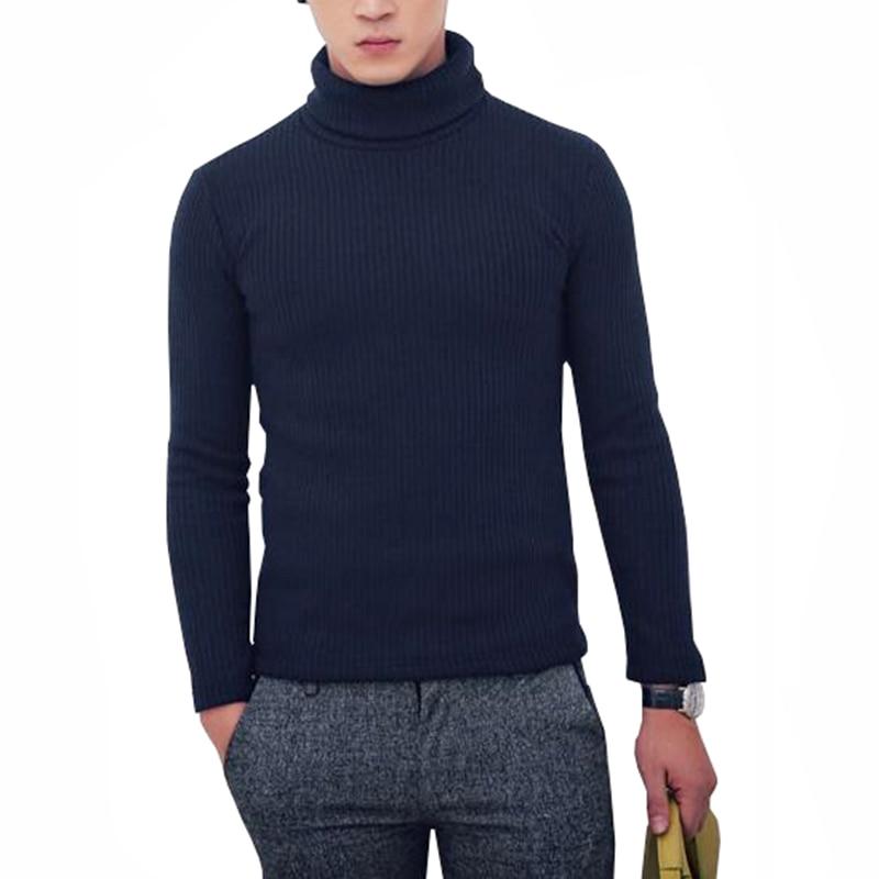 [해외]2018 고품질 겨울 니트 스웨터 남자 turtlenneck 크리스마스 스웨터 남자 순수한 색 따뜻한 풀오버 카디건 당겨 옴므/2018 고품질 겨울 니트 스웨터 남자 turtlenneck 크리스마스 스웨터 남자 순수한 색 따뜻한 풀오버 카디건