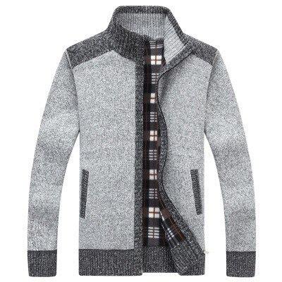 [해외]2019 가을 겨울 새로운 캐주얼 슬림 맞는 스웨터 자 켓 남자의 두꺼운 스웨터 코트 남성 패치 워크 지퍼 스웨터 코트 겉옷 3xl/2019 가을 겨울 새로운 캐주얼 슬림 맞는 스웨터 자 켓 남자의 두꺼운 스웨터 코트 남성 패치 워크 지퍼 스웨