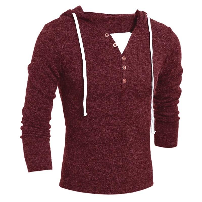 [해외]2019 남성 의류 슬림 피트 풀오버 브랜드 긱 신사복 스웨터 패션 디자인 솔리드 후드 니트 스웨터 코트/2019 남성 의류 슬림 피트 풀오버 브랜드 긱 신사복 스웨터 패션 디자인 솔리드 후드 니트 스웨터 코트