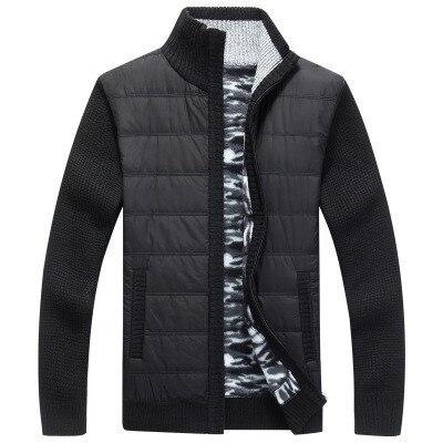 [해외]2019 새로운 남성 지퍼 스웨터 자켓 겉옷 두꺼운 스웨터 코트 남성 가을 겨울 스웨터 코트 블랙 블루 그레이 M-3XL/2019 새로운 남성 지퍼 스웨터 자켓 겉옷 두꺼운 스웨터 코트 남성 가을 겨울 스웨터 코트 블랙 블루 그레이 M-3XL