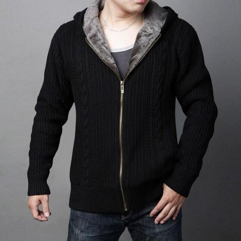 [해외]남성 도매 남자의 새로운 겨울 플러스 벨벳 스웨터 코트 솔리드 컬러 캐주얼 따뜻한 후드 지퍼 두꺼운 스웨터 두꺼운 스웨터/남성 도매 남자의 새로운 겨울 플러스 벨벳 스웨터 코트 솔리드 컬러 캐주얼 따뜻한 후드 지퍼 두꺼운 스웨터 두꺼운 스웨터