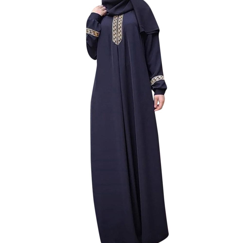 [해외]뜨거운 고품질 여자 플러스 크기 S-5XL 폴리 에스테 인쇄 abaya jilbab 회교도 maxi 복장 캐주얼 kaftan 긴 복장 2019 새로운 도착/뜨거운 고품질 여자 플러스 크기 S-5XL 폴리 에스테 인쇄 abaya jilbab 회교
