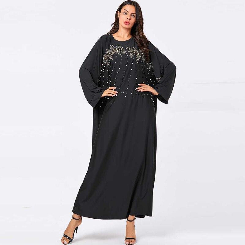 [해외]플러스 사이즈 블랙 abaya 터키어 hijab 이슬람 드레스 이슬람 의류 abayas 여성용 kaftan 가운 caftan 두바이 elbise djelaba femme/플러스 사이즈 블랙 abaya 터키어 hijab 이슬람 드레스 이슬람 의류