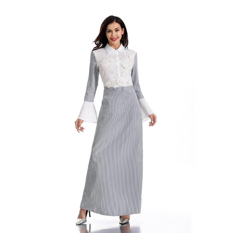 [해외]Vestidos 줄무늬 abaya 두바이 kaftan 복장 아랍 이슬람교 hijab 복장 여자를위한 abayas 라마단 caftan 가운 arabe musulmane femme/Vestidos 줄무늬 abaya 두바이 kaftan 복장 아랍 이