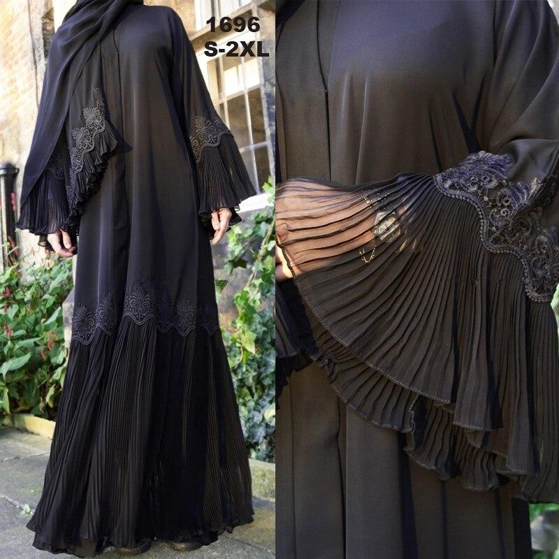 [해외]Abaya 기모노 kaftan 말레이시아 pleated 이슬람 카디건 hijab 드레스 abayas 여성 터키 이슬람 의류 caftan 두바이 djellaba/Abaya 기모노 kaftan 말레이시아 pleated 이슬람 카디건 hijab 드레
