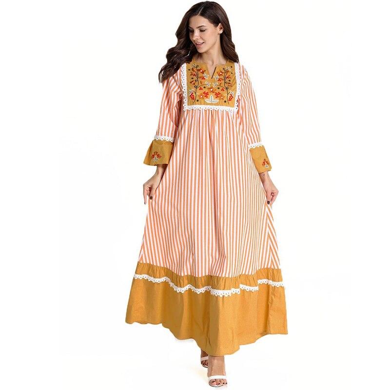 [해외]플러스 사이즈 자수 abaya 가운 두바이 이슬람 hijab 드레스 이슬람 abayas 여성용 kaftan caftan 터키 드레스 이슬람 의류/플러스 사이즈 자수 abaya 가운 두바이 이슬람 hijab 드레스 이슬람 abayas 여성용 ka
