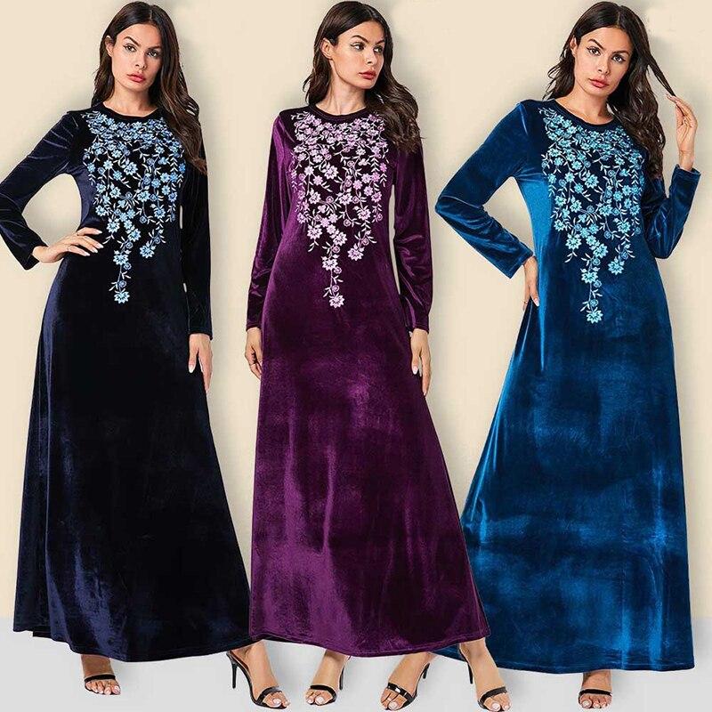 [해외]벨벳 abaya 터키어 긴 소매 hijab 이슬람 드레스 kaftan 이슬람 의류 abayas 여성 caftan 이슬람 드레스 djelaba femme/벨벳 abaya 터키어 긴 소매 hijab 이슬람 드레스 kaftan 이슬람 의류 abaya