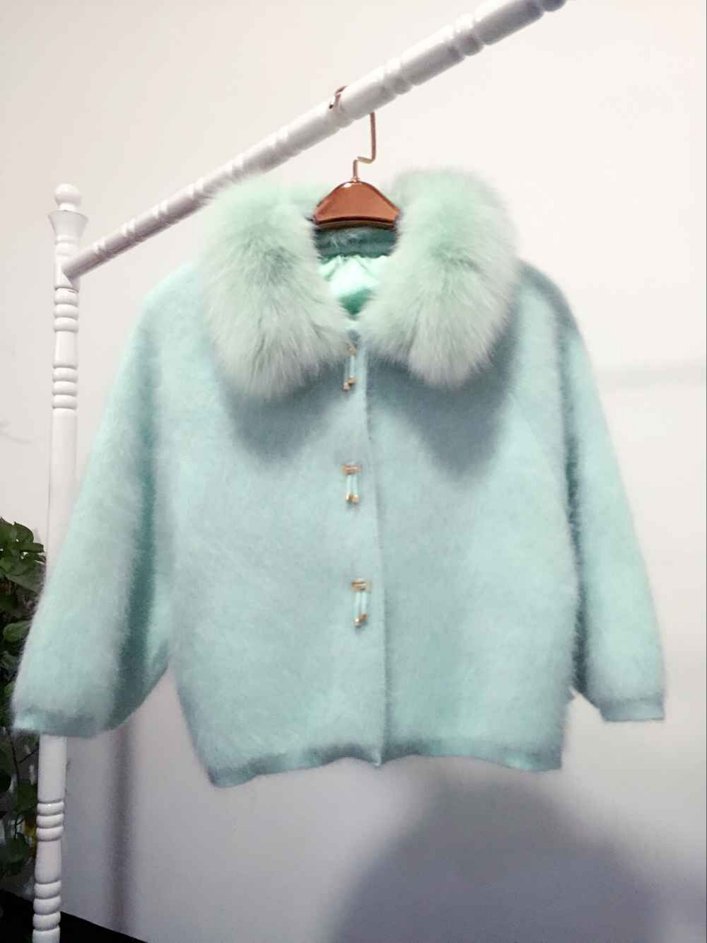 [해외]2016 New Ladies BianFuShan short mink mink cashmere cashmere cardigan coat fox fur thick loose sweater/2016 New Ladies BianFuShan short mink mink