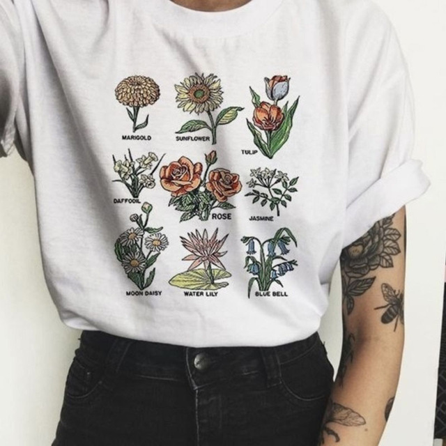 [해외]새로운 패션 t 셔츠 2019 꽃 인쇄 짧은 소매 라운드 넥 캐주얼 느슨한 여성 한국어 스타일 뜨거운 t-셔츠 탑스 vestidos tx3060/새로운 패션 t 셔츠 2019 꽃 인쇄 짧은 소매 라운드 넥 캐주얼 느슨한 여성 한국어 스타일 뜨거